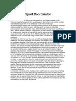 sport coordinator