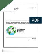 IATF 16949 2016, Português
