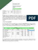 Distribución de Costos de Importación