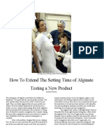How to extend the setting time of alginate