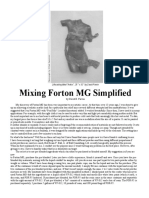 Mixing Forton MG Simplified