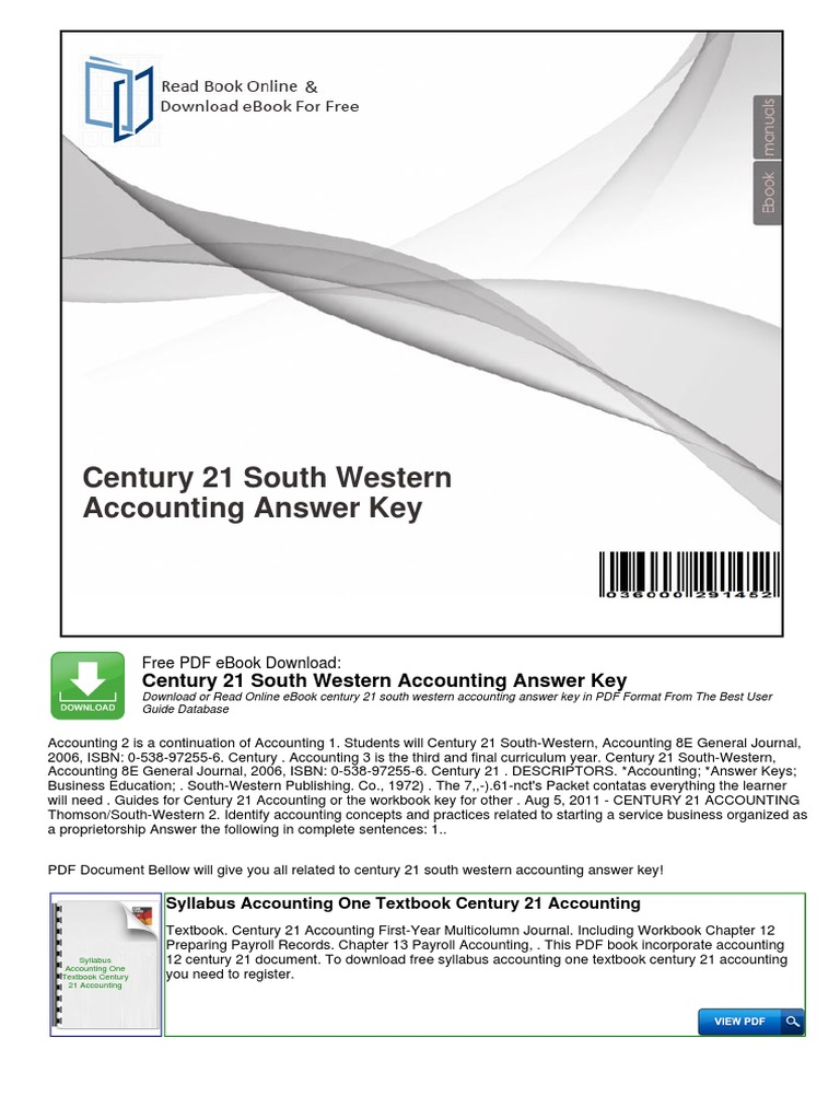 1pdf century 21 south western accounting answer key free pdf 1pdf century 21 south western accounting answer key free pdf ebook download century 21 south western accounting answer key download or read online ebook fandeluxe Image collections