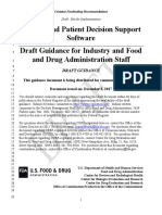 Clinical and Patient Decision Support Software - Draft Guidance - FDA - 12 08 2017