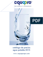 Catalogo Agua Potable 2015