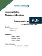 Informe de acomplamiento hidraulico y convertidor de par