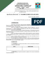 Resolución Directoral langui