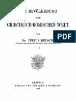 Beloch, Julius-Die Bevölkerung Der Griechisch-römischen Welt-Duncker & Humblot (1886)