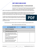 IATF 16949:2016 - Checklist Sample