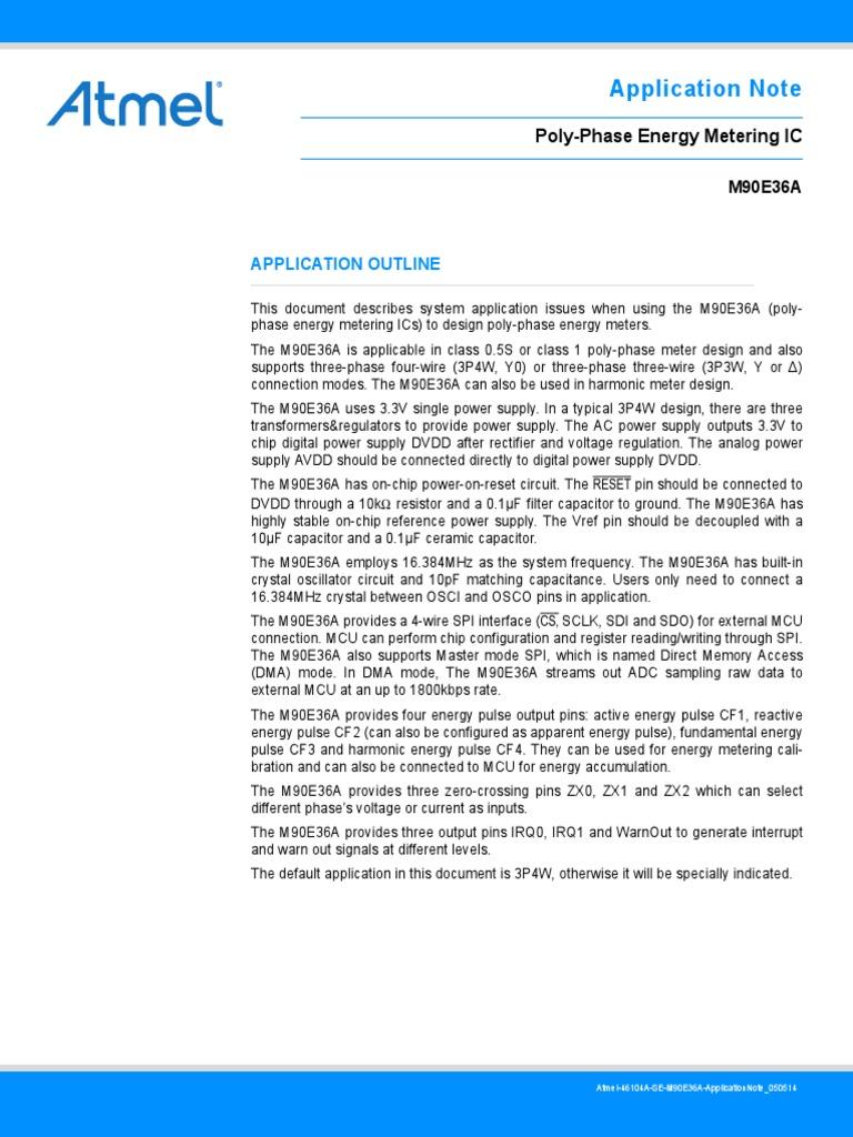 Atmel 46104 SE M90E36A ApplicationNote | Power Supply
