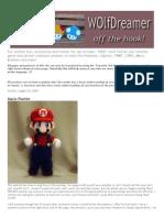 Mario Bros Grande Crochet