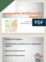 Programa de Educación Especial