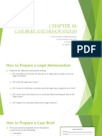 Chapter 14-Legal Memorandum and Case Brief