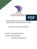 Ensayo Visita Tecnica Mica Sur e Hidroelectrica El Carmen