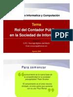 """Exposición del CPC. Joel Visurraga """"Sociedad de la Información"""" - Comité de Informática del CCPL"""