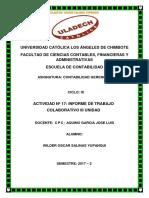 Actividad Nº 17 Informe de Trabajo Colaborativo III Unidad -W