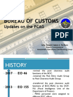 Updates on Philippine Post Clearance Audit