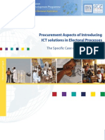 "Operational Paper ""Procurement Aspects of Introducing ICTs Solutions in Electoral Processes"""