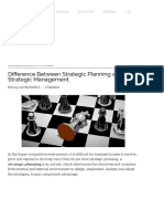 Difference Between Strategic Planning and Strategic Management (With Comparison Chart) - Key Differences