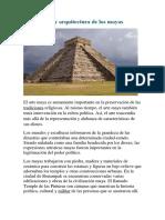 Arte y Arquitectura de Los Mayas Wendy