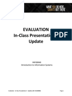 Evaluation - In-Class Presentation 3 - Update (201710100800)