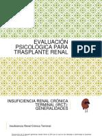 Evaluación Psicológica Para Trasplante Renal