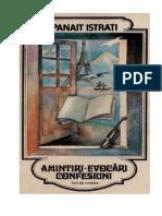 Panait Istrati - Amintiri. Evocari. Confesiuni v.1.0