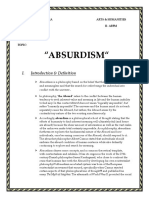 Absurdism to Be Print