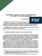 A Reforma Agrária Na Nova Constituição - Miranda Costa