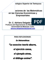 Clase 1. Aplicaciones Económicas de La Función Lineal - Copia - Copia