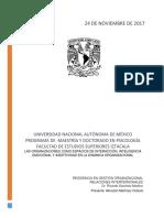 Las Organizaciones Como Espacios de Interacción Inteligencia Emocional y Asertividad en La Dinámica Organizacional