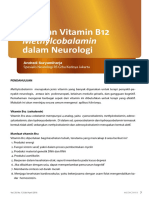 LEADING ARTICLE Peranan Vitamin B12 Methylcobalamin Dalam Neurologi