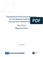 Standardized Performance Measures for the National Public Health Improvement Initiative