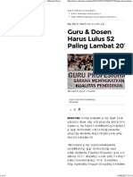 Guru & Dosen Harus Lulus S2 Paling Lambat 2015