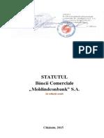 Statutul bancii comerciale MICB