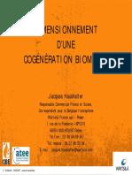 4 - Dimensionnement d Une Cogeneration Biomasse