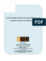 Case Studies With Jute Geotextiles Jgt in Rural Road Construction