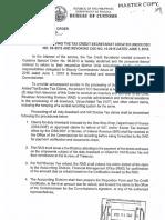 BOC CSO 36 2016 Dissolving the Tax Credit Secretariat