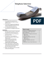 Telephone Interview Preparation Guide