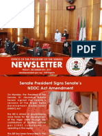 OFFICE OF THE PRESIDENT OF THE SENATE NEWSLETTER. WEEK OF MONDAY DECEMBER 4TH TO FRIDAY DECEMBER 8TH