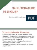 Ethiopian Literature in English