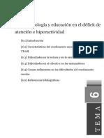 Tema6 Neuropsicología y Educación en El Déficit de Atención e Hiperactividad