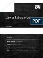Valores Laboratoriais