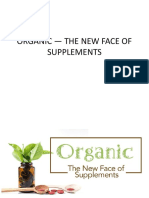 Organic — the New Face of Supplements