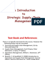 Introduction to Strategic Supply Chain Management