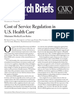 Cost of Service Regulation in U.S. Health Care