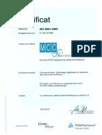 Attestation Certification 9001