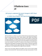 SAP Cloud Platform Goes Multi-Cloud