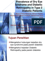 Prevalence of Dry Eye Syndrome and Diabetic Retinopathy