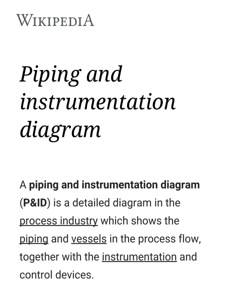 Piping And Instrumentation Diagram Wikipedia Energy Technology Electrical Engineering