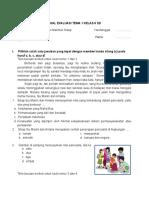 Soal Evaluasi Tema 1 Kelas 6 Sd